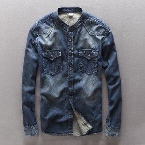 Itale стильные новые модные джинсы синяя рубашка мужская хлопковая джинсовая Повседневная рубашка мужская брендовая одежда Camisa masculina Homme Overhemd...