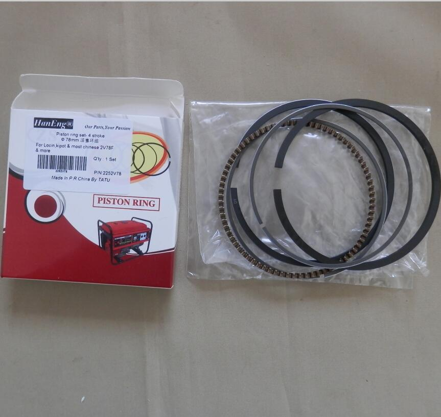 78MM 2V78F PISTON RING SET STD FOR LONGCIN KIPOR KG280 & MOST 2V78 4 STROKE 688CC 22HP V-TWIN MOTOR  KOLBEN RINGS