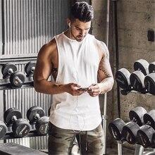 Marca gimnasios Stringer ropa culturismo Tank Top Fitness camiseta sin mangas Camiseta de algodón sólido muscular chaleco camiseta