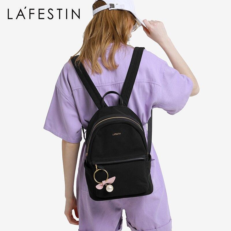 Lafestin 조수 브랜드 여행 배낭 여성 패션 배낭 2019 새로운 야생 옥스포드 배낭 발수-에서백팩부터 수화물 & 가방 의  그룹 1