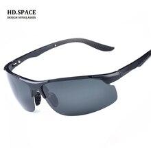 HD. espacio hombres TR90 gafas de Sol Polarizadas De Aluminio magnesio Conducción deportiva gafas de sol de los hombres gafas de sol para los hombres gafas de sol