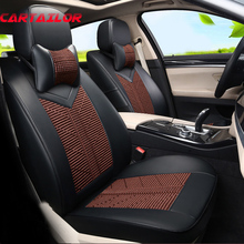 CARTAILOR Car Seat Cove PU Leather Styling for Porsche Cayenne 2008 2011 2016 Seat Covers Cars Accessories Auto Seats Protector(China)