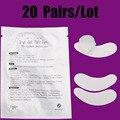 20 pares/lote hidrogel eye pad sob pestana extensão manchas de papel 3d beauty make up tools com frete grátis