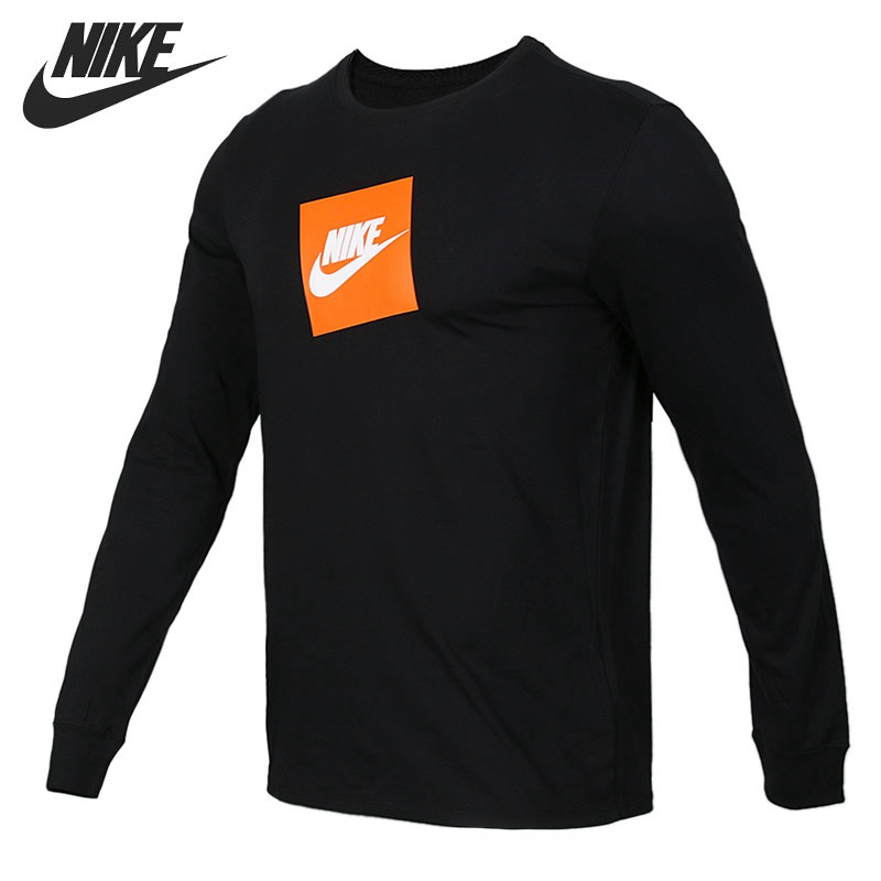 Original New Arrival 2018 NIKE LS FUTURA BOX HBR Men's T-shirts Long sleeve Sportswear original new arrival 2017 nike as m np hprwm top ls comp men s t shirts long sleeve sportswear