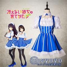 Anime Saenai heroine no sodate kata Utaha Kasumigaoka Cosplay Costume Bule Dress Skirt P