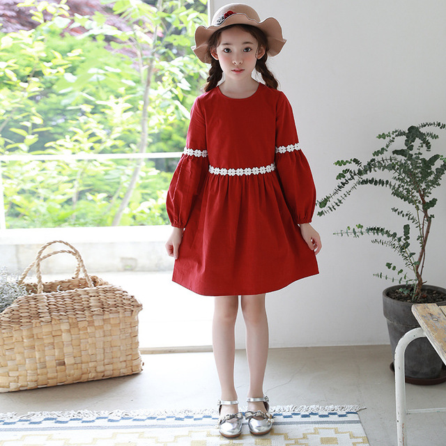 54abdc5e9 2018 Autumn New Korean Children Dress Girls Long Sleeves Dress Baby ...