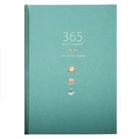 365 Days Personal Diary Planner Hardcover Notebook Diary Office Weekly Schedule Cute StationeryBlue