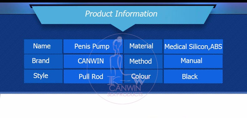 Penis Pump CANWIN Penis Enlargement Vacuum Pump Penis Extender Man Sex Toys Penis Enlarger Adult Sexy Product for Men [22 7