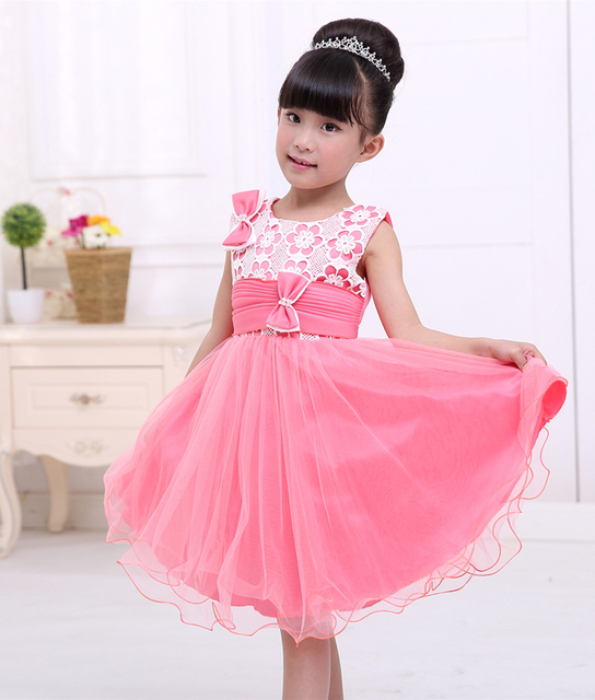 bba2e81d6ffd pink flowers embroidery elegant trendy 3 year old kids toddlers ...
