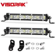 VISORAK 7″ 30W Slim LED Work Light Bar Spot 12V 24V Offroad LED Light Bar For 4X4 4WD Jeep Truck ATV UTV SUV Pickup LED Beams