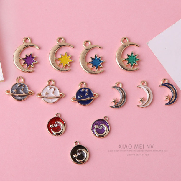 Zinc Alloy Drops Stars Moon Sun Series Earrings for women Charms Pendant For Jewelry Making Material DIY Handmade Accessories in Drop Earrings from Jewelry Accessories