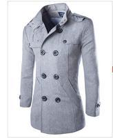 Long Woolen Slim Fit Overcoat - Double Breasted Winter Jacket 2