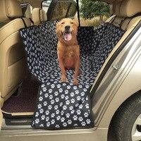 Cat Footprints Car Rear Seats Cover Paw Pattern Pet Car Seat Cover Waterproof Bulldog Husky Shepherd
