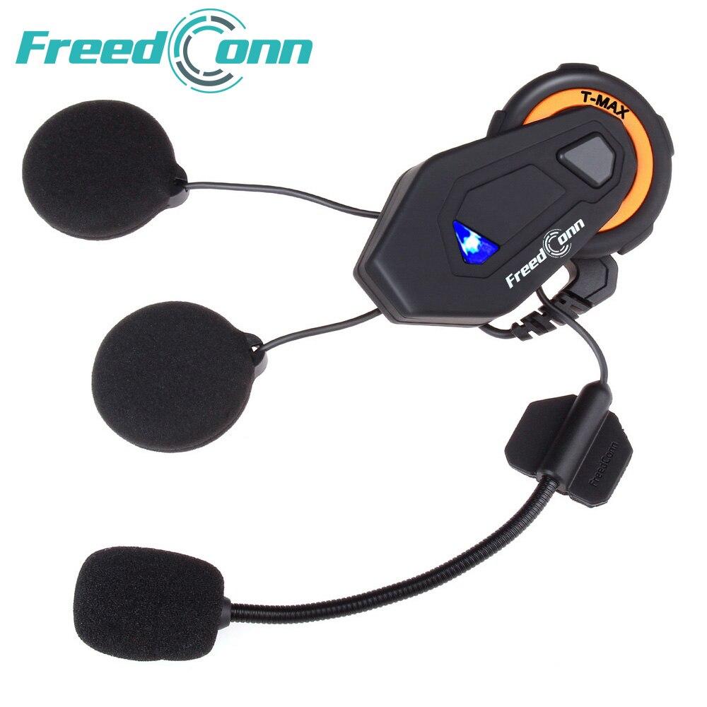 Freedconn T-MAX capacete da motocicleta bluetooth headset intercom 6 pilotos grupo intercom BT Interphone do Bluetooth FM Rádio 4.1