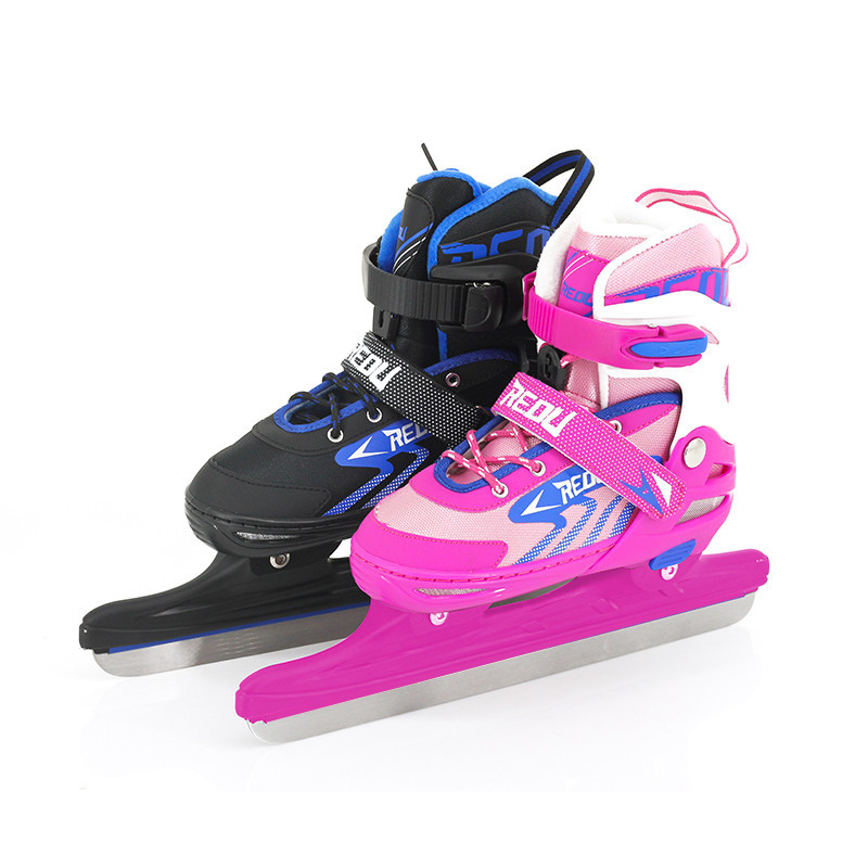 2018 Adult Women Children Racing Speed Figure Ice Skates Ski Shoes Adjustable Ice Blade Thermal Adjustable Thicken For Kids Girl пластина ada ice blade 150 1000мм