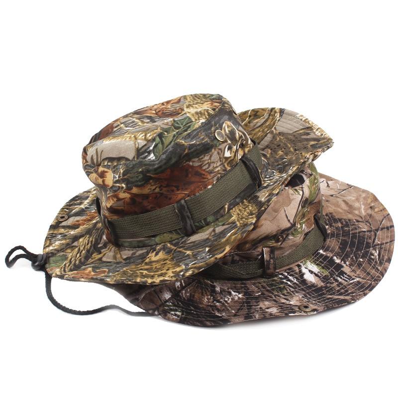 Mode 2017 baru tiba unggul bucket hat boonie lebar kamuflase cap matahari  topi militer penuh di 90dafbb598