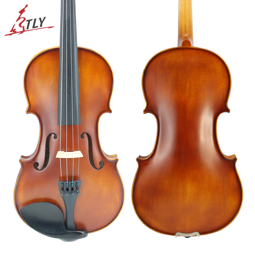 TLY Beginner Matte Antique Maple Acoustic Violin Full Size Students Violin 1/8,1/4,1/2,3/4,4/4 w/ Case Bow Rosin Strings 4 4 portable electric violin with bow rosin carry case for beginner