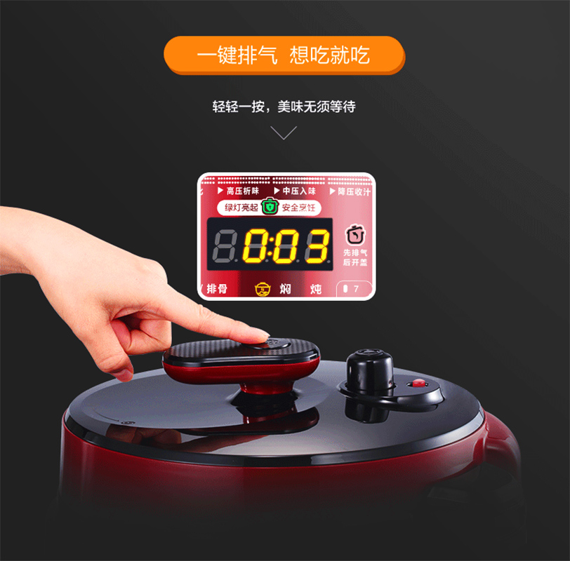 USA Electric Pressure Cooker 5L Litre Household Intelligent Double Gallbladder Pressure Cooker Rice Pot Casserole electric pressure cookers electric pressure cooker double gall 5l electric pressure cooker rice cooker 5 people