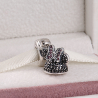 Spring 2015 Fits Famous Brand Diy Bracelets Cartoon Ear Hat Dangle Charms With Cz 925 Sterling