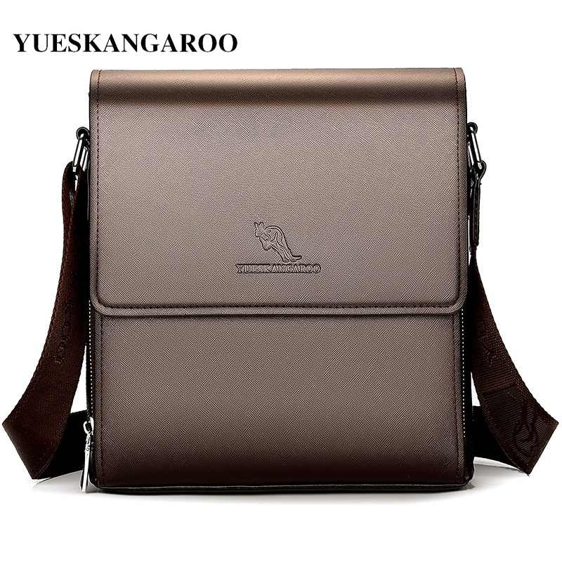 e6bf95ae3d3 YUESKANGAROO New Luxury Brand Men Shoulder Bags Business Messenger Bag  Casual Leather Sling Crossbody Bags Vintage