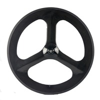 700c Carbon Clincher Wheels Road And Track And Fixed Gear Bicycle Carbon 3 Spoke Wheel