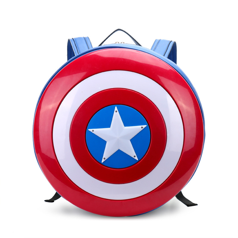 Captain America Backpack for Men Women High Quality PU Leather Big Cosplay Backpack Ladies Fashion Laptop Shoulder Bags 2017 new arrival 2017 high quality big pu leather students backpack travelling shoulder bags casual backbag girls fashion backpack