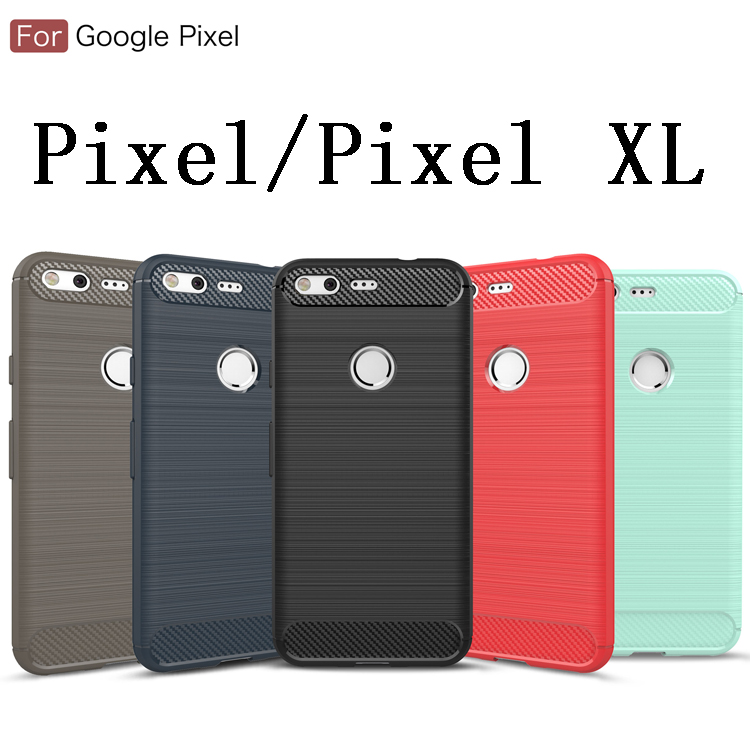 Slim Armor 3D Carbon Fiber Soft Google Pixel 2 2XL 3 XL Silicone Phone Back Cover For Pixel XL Brushed Coque