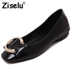 Ziselu 2017 new bow women s ballet flats spring autumn basic pu leather slip on shallow.jpg 250x250