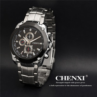 CHENXI Watches Men Luxury Brand Military Watch Men Full Steel Wristwatches Fashion Waterproof Relogio Masculino W