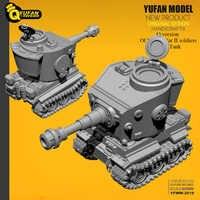 Yufan Model Q wersja tygrys czołg Model z żywicy Yfww-2019