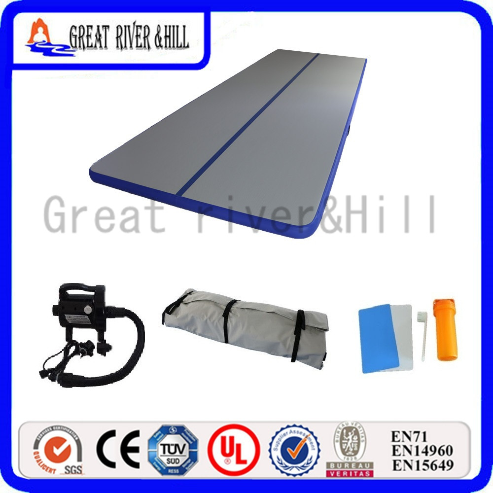 gymnastic inflatable air tumbling mat gym air mat gym mat 10m x 1m x 10cm