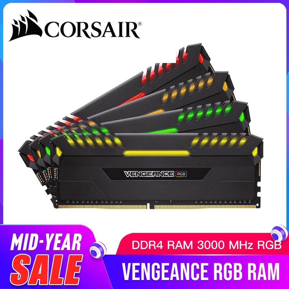 CORSAIR Vengeance RGB DDR4 RAM 8 GB 3000 MHz RGB DIMM C16 ordinateur de bureau de mémoire DDR4 3000 MHz RGB RAM 16 GB 32 GB