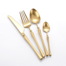 24 Pcs Christmas Tableware Golden Cutlery Set 304 Stainles Steel Knife S poon and Fork Set Gold Dinnerware Kitchen Accessories