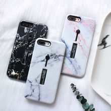 UXIA Colorful Marble Phone Case For iphone 7 6 6S 8 Plus X Cover Fashion Stretch Ring Stand Cases Retro Capa