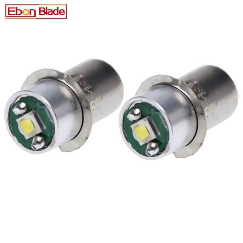 2Pcs 3W 3 Wattage LED Light Bulb P13.5s Lamp for Ryobi P704 Flashlight 3V 4V 4.5V 5V 6V 12V 15V 18V Free Shipping