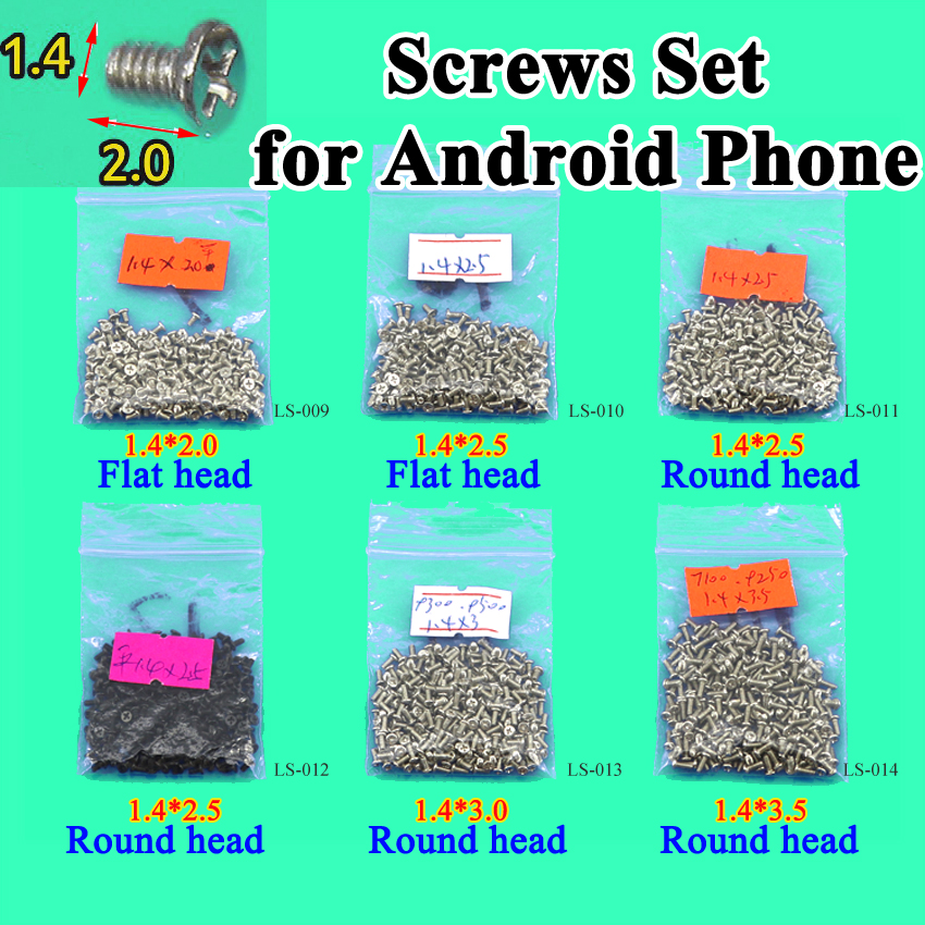 Cltgxdd Flat Head/roundhead New M1.4 2.5mm 3.0mm 3.5mm Cell Phone Screws Set For Android Phone