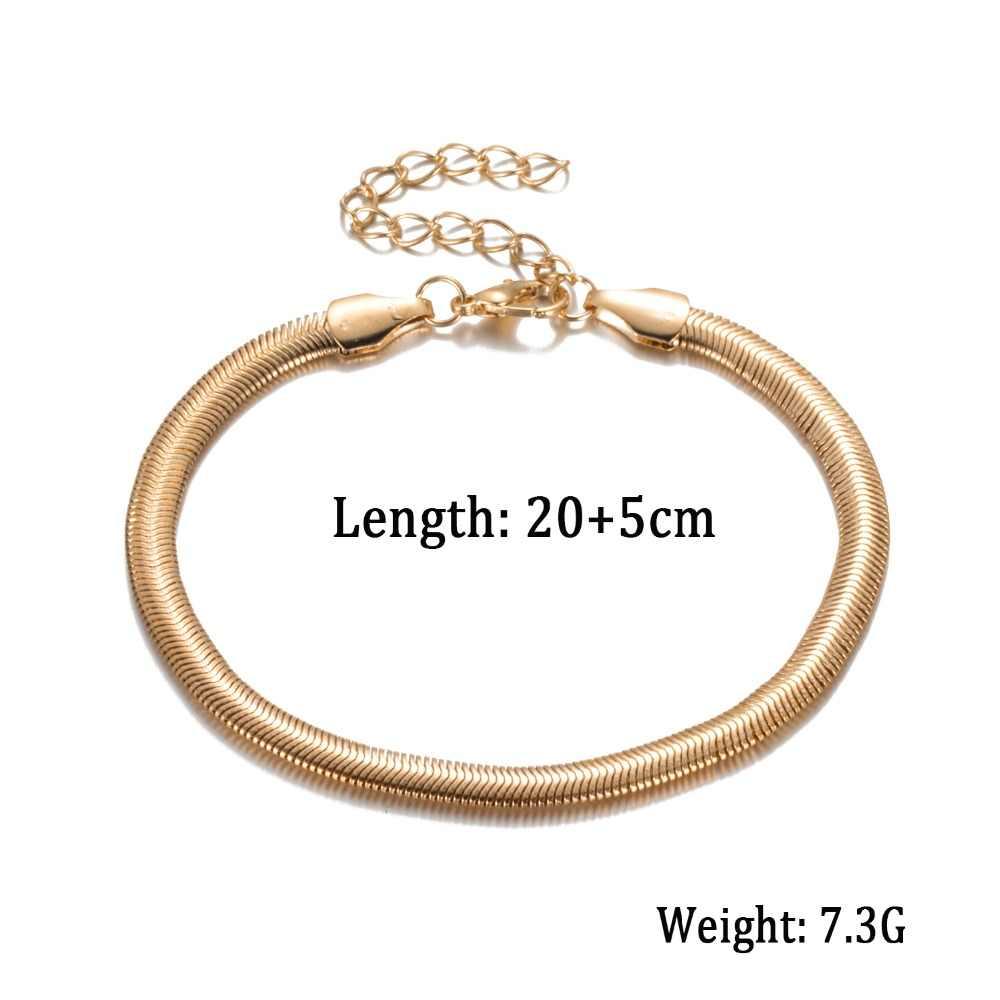 2019 Yeni Moda Aksesuarları Takı altın zincir halhal, Balıksırtı ayarlanabilir charm halhal, ayak bileği bacak bilezik, ayak takısı