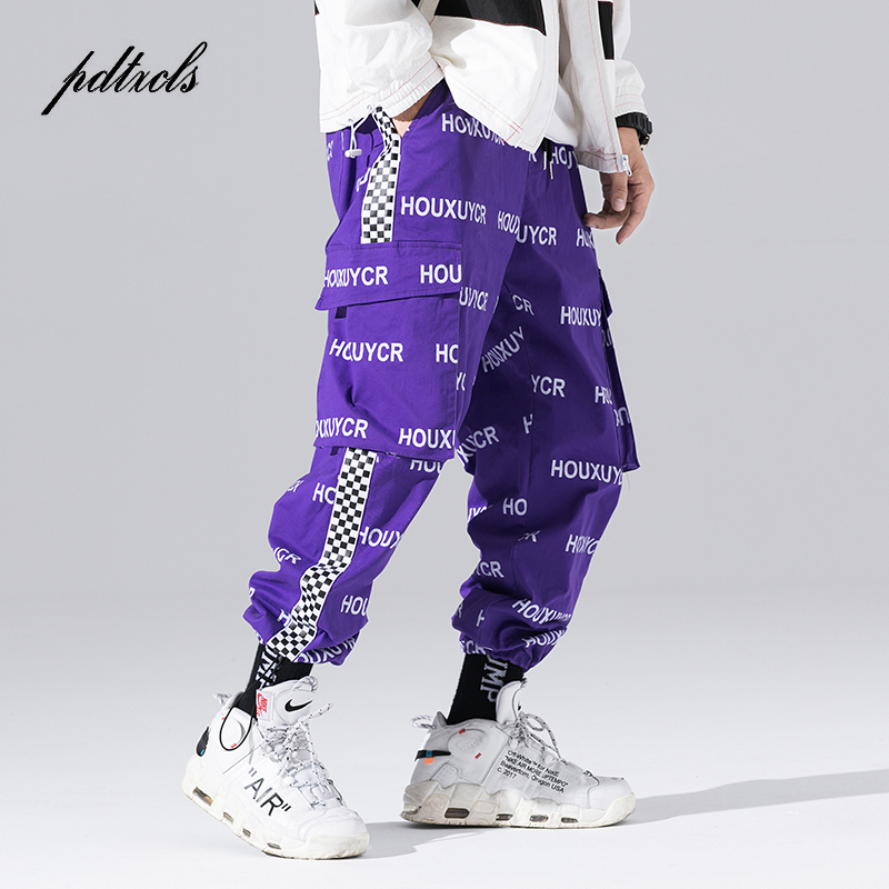 New Arrival Harajuku Japanese Style Letter Printed Fashionable Men's Jogger Trousers Hip Hop Autumn Casual Male Harem Pants(China)