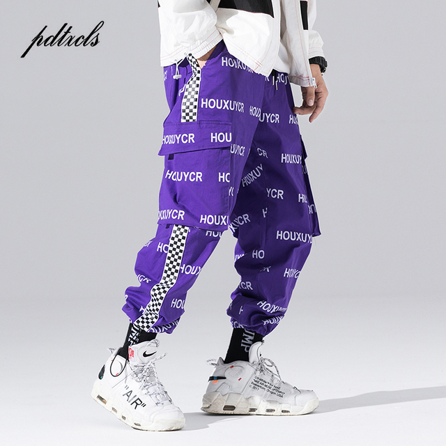 New Arrival Harajuku Japanese Style Letter Printed Fashionable Mens Jogger Trousers Hip Hop Autumn Casual Male Harem Pants