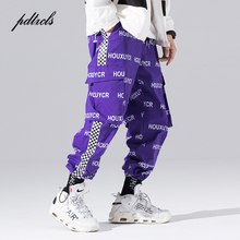 Pantalones para correr de estilo japonés Harajuku para hombre, pantalón informal, Hip Hop, para otoño, con letras estampadas, para hombre