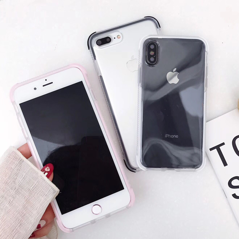 LOVECOM Anti-Knock Case For iPhone 11 Pro Max XR XS Max X 6 6S 7 8 Plus Transparent Soft TPU Full Body Phone Back Cover Cases