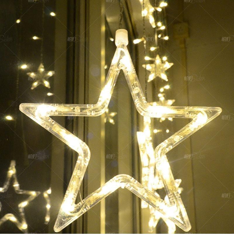 Five Star 220v110v Christmas New Year Decoration Led