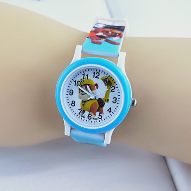 New Silicone Children Watch Boys Girls Clock Child Quartz Wristwatches Fashion Cartoon degs Team Baby Kids Student Watches Gift