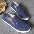 HOT selling Men's casual slip on casual shoes 2017 breathable fashion men flats shoes size 9.5 quality and cheaper mens footwear
