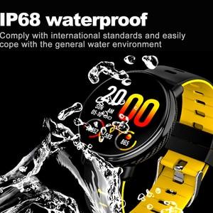 Image 3 - K1 الذكية الفرقة IP68 مقاوم للماء معدل ضربات القلب ضغط الدم رصد IPS كامل شاشة تعمل باللمس Smartwatch ل أندرويد IOS سوار