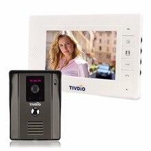 "Tivdio T-11D 7 ""Цвет телефона двери видео домофон ИК ночного видения Камера звонок комплект для дома Квартира F9504"