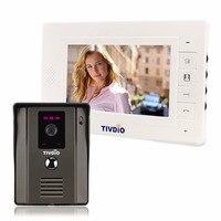7 Color Video Door Phone Doorbell Intercom Kit IR Night Vision Camera Monitor For Home Security