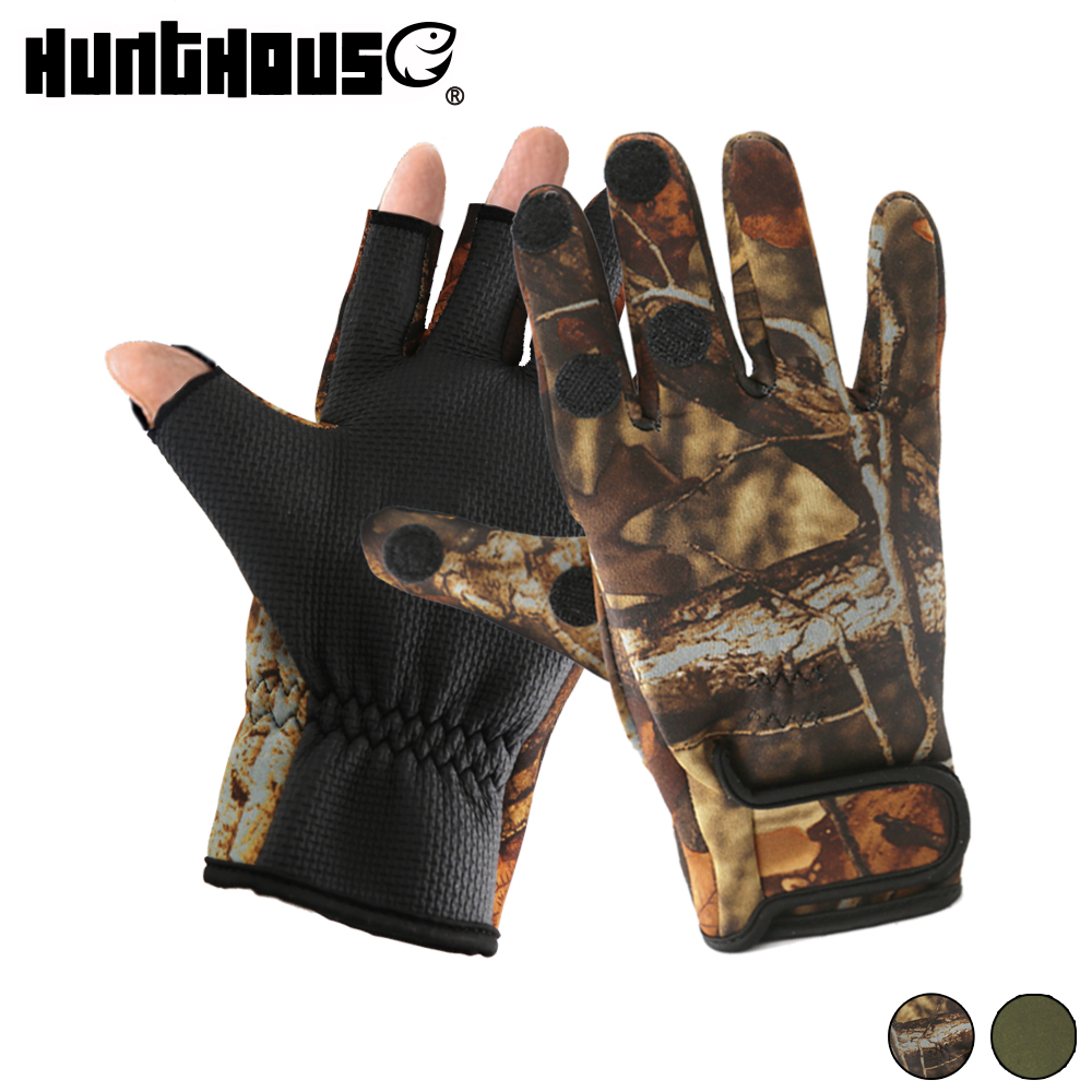 Hunthouse winter angeln handschuhe Handschuh Pesca männer angeln handschuhe wasserdichte peche Gant handschuh angeln jagd zubehör