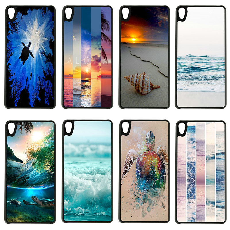 Seashell Tropical Sea Island Cell Phone Cases Hard PC Cover for Sony Xperia z1 z2 z3 z4 z5 m4 m5 X XA XA1 XZ E4 E5 Compact Shell