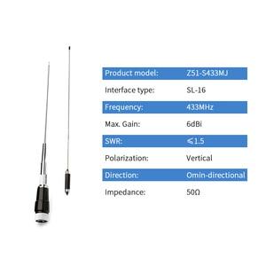 Image 2 - 433MHz Rvs Outdoor Staaf Omni Antenne SL 16 6dBi Datatransmissie Draadloze Module Antena Z51 S433MJ